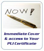 Instant cover & immediate access to your PLI Certificate