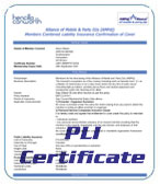 Your personal PLI Certificate