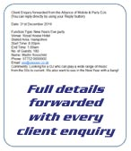 We send you full details of every enquiry for your area