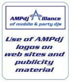 Use AMPdj logos on your site & advertising material