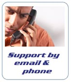 You can contact us by phone or email