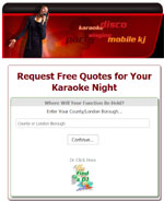 karaoke DJ client enquiry site